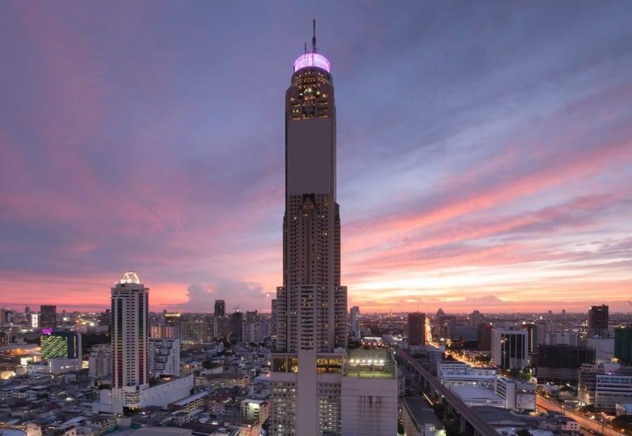 Отель байок скай небоскреб в бангкоке, (baiyoke sky hotel bangkok)