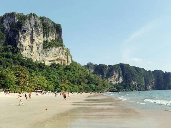 Пляж ао нанг на краби - фото, описание ao nang beach