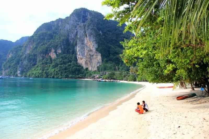Пляж ао нанг в краби, ao nang beach, самый лучший и популярный