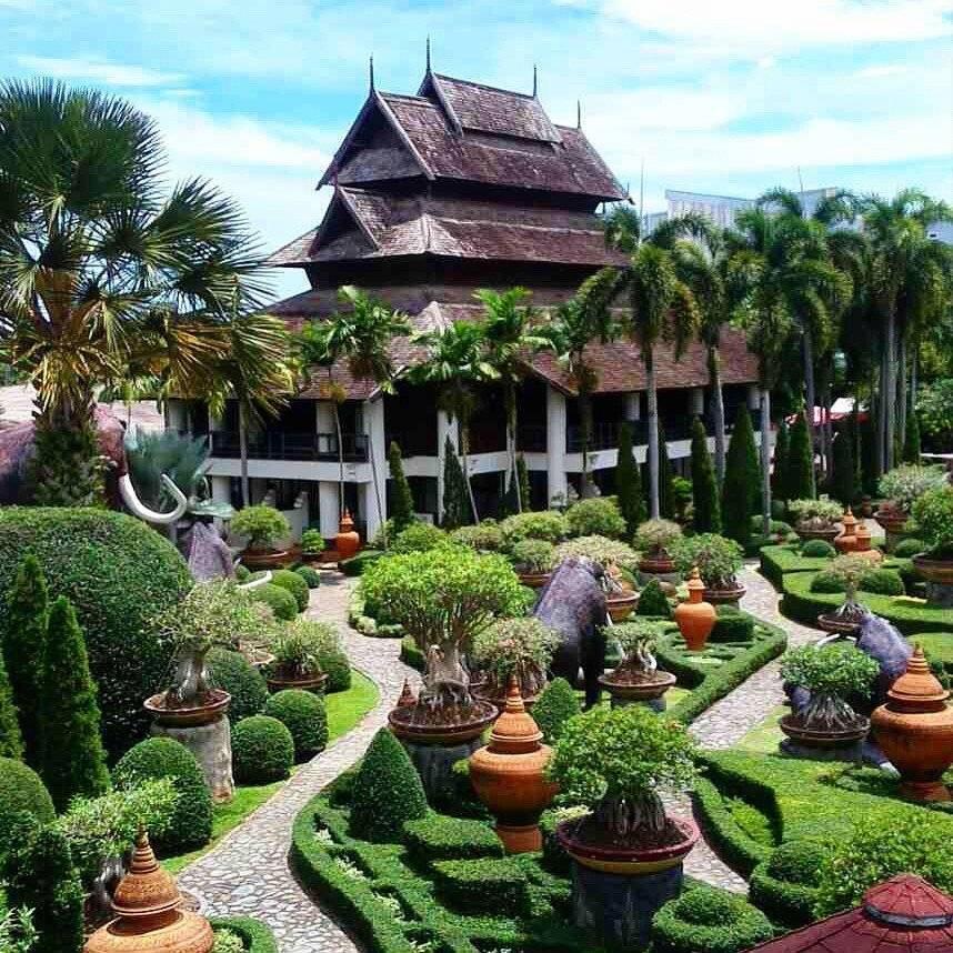 Тропический сад нонг нуч (nong nooch tropical garden) в паттайе - фото, описание, карта