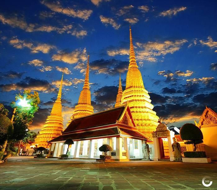 Ват пхо— храм лежащего будды в бангкоке