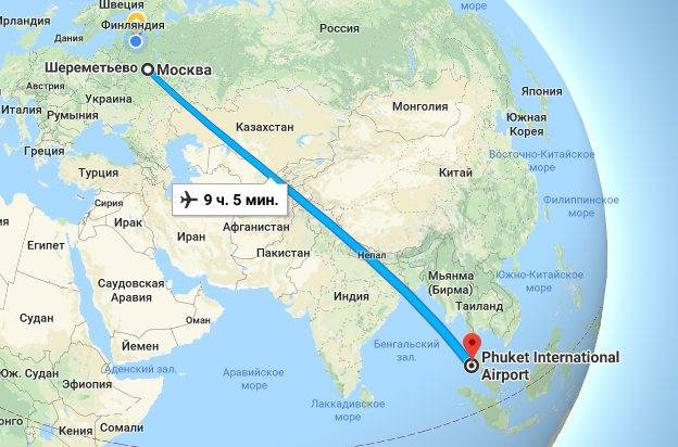 Над какими странами летит самолет в таиланд - всё о тайланде