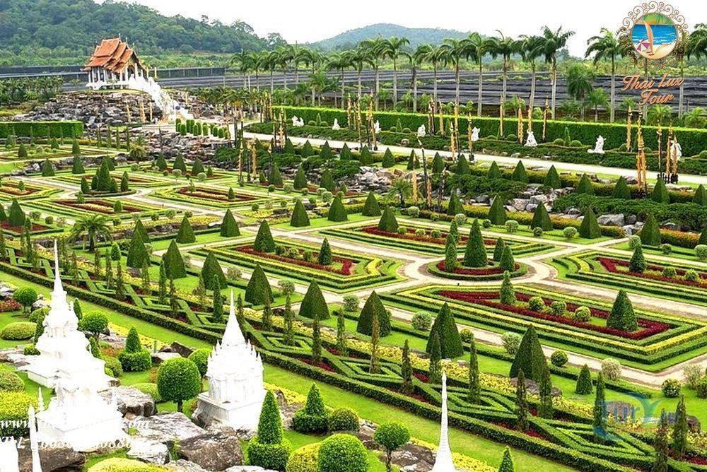 Тропический ботанический сад нонг нуч, паттайя,таиланд.