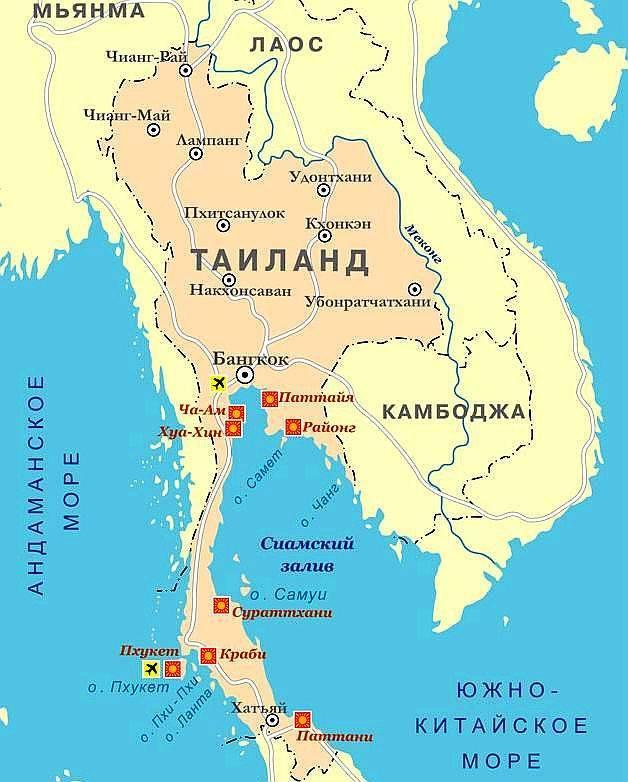 Какое море в таиланде на популярных курортах паттайя, пхукет и самуи